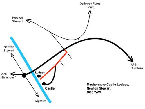 Machermore Castle West Lodge sett ovenfra