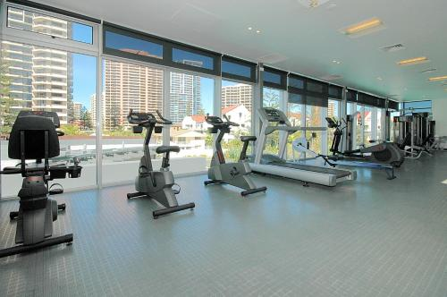The fitness center and/or fitness facilities at Tallest Tower SkyHomes   9 Hamilton Avenue