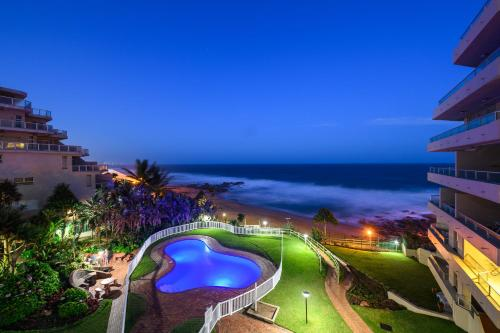 A view of the pool at Ballito Luxury Family Apartment (on the beach) or nearby