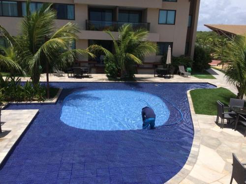 A piscina localizada em Nui supreme beach ou nos arredores