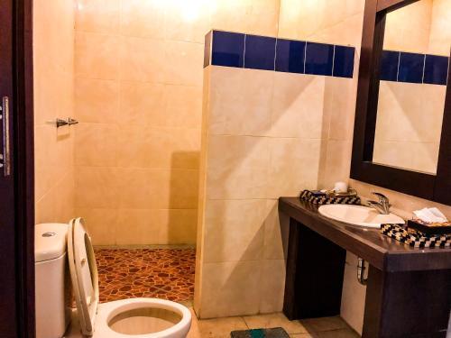 Salle de bains dans l'établissement Oceaner Villa