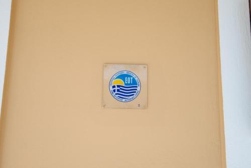 Het logo of bord voor het appartement