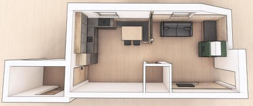 The floor plan of Apartments Riega