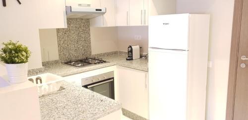 A kitchen or kitchenette at NOUACEUR PARC STUDIO