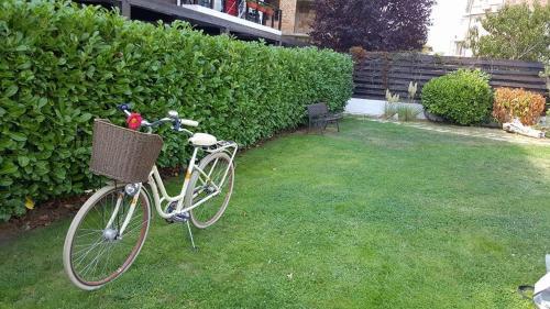 A garden outside Venti Club Apartments