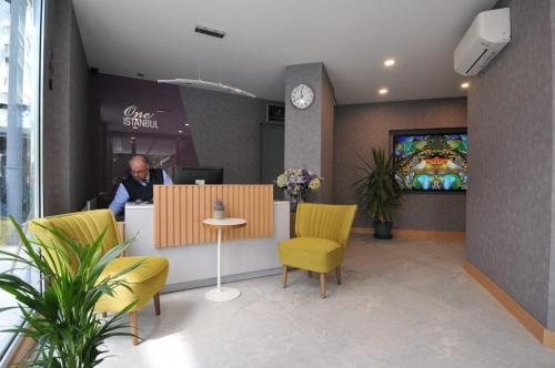 The lobby or reception area at One Istanbul Hotel Suadiye