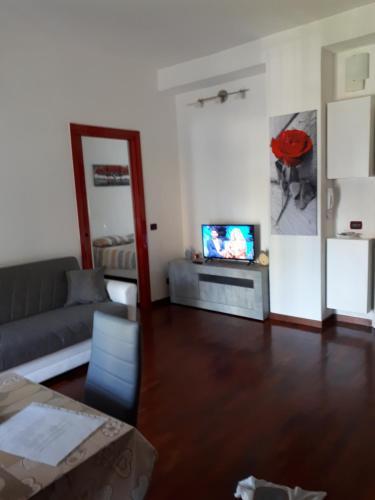 Area soggiorno di Valassina milano apartment