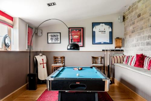 A billiards table at Harrogate Barn