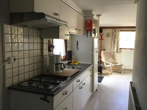 Een keuken of kitchenette bij De Vlinder