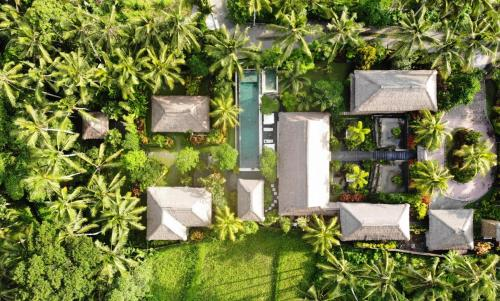 A bird's-eye view of Villa Kanti