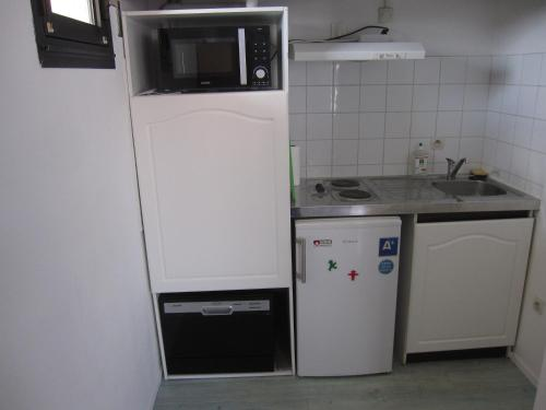 A kitchen or kitchenette at 1 Room Apartment Toulouse Blagnac