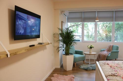 A television and/or entertainment center at Casa Abi