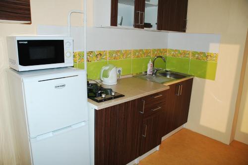 Virtuve vai virtuves aprīkojums naktsmītnē Ventspils Inženieru 99 Apartment