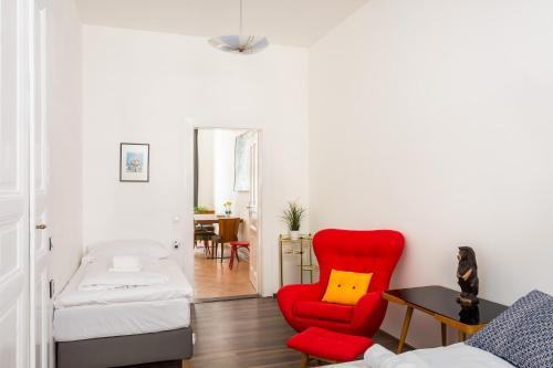 Area tempat duduk di Apartment VINOHRADY