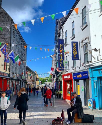 Pedestrian Shopping mall in downtown Galway - Traveller