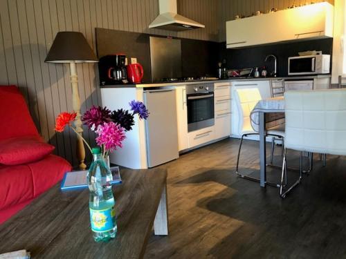Cuisine ou kitchenette dans l'établissement Domaine de Label, Spa, massages