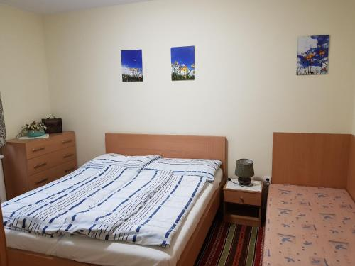 A bed or beds in a room at Privat Bartky