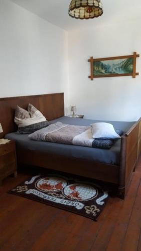 Ein Bett oder Betten in einem Zimmer der Unterkunft Erlebnishof Oberauroff