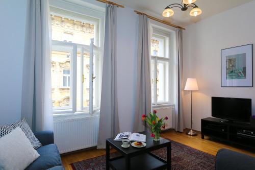 Posezení v ubytování Vinohrady Varsavska Apartments