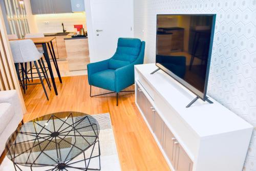 TV i/ili multimedijalni sistem u objektu Premium Apartment Teslić