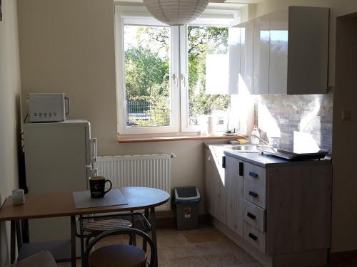 Kuchyň nebo kuchyňský kout v ubytování Apartament Pod Śnieżką