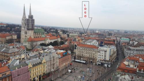 Blick auf LOGO apartments aus der Vogelperspektive