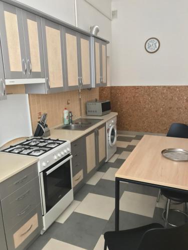 A kitchen or kitchenette at Apartment on Prospekt Shevchenka