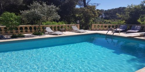 The swimming pool at or close to Le Domaine d'Alèzen