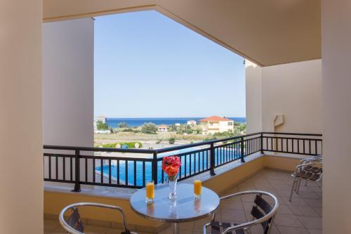 A balcony or terrace at Apartments Hotel & Studios, Xifoupolis