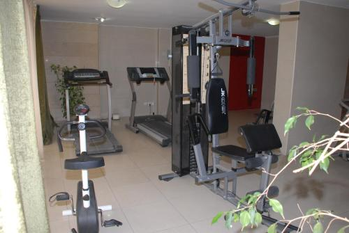 The fitness center and/or fitness facilities at Taj Suites
