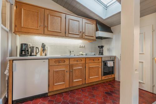Küche/Küchenzeile in der Unterkunft Ferienwohnung Kuster