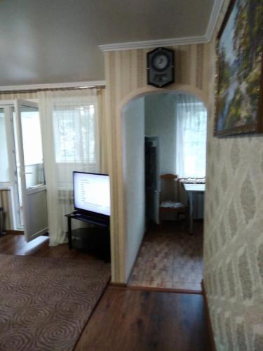 A television and/or entertainment center at Kvartira