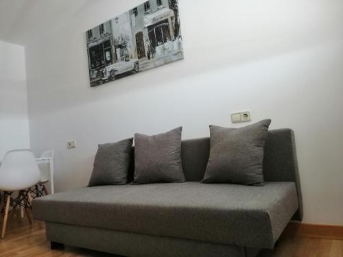 Zona de estar de Teos Apartment
