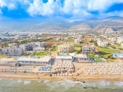 A bird's-eye view of Parthenis Beach, Suites by the Sea