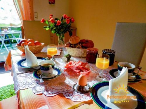 Frühstücksoptionen für Gäste der Unterkunft Ferienwohnung Ilona - [#120549]