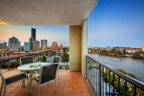 A balcony or terrace at Bridgewater Apartments