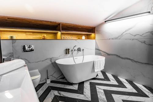 Vonios kambarys apgyvendinimo įstaigoje Stradom 15 Apartments