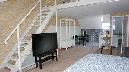 A television and/or entertainment centre at Sint-Jans Appartments