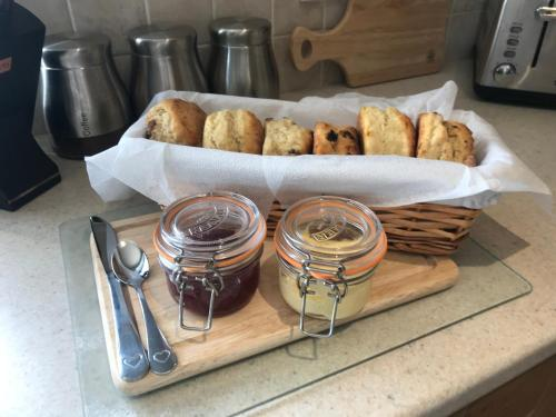 Breakfast options available to guests at Causeway Coast Cottage