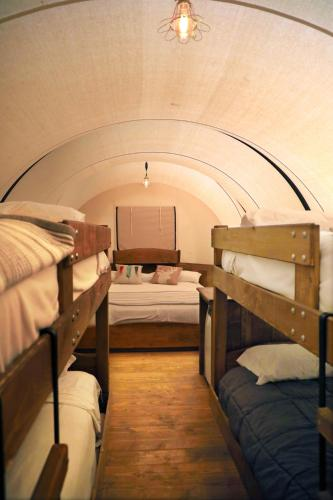 A bunk bed or bunk beds in a room at Zion Ponderosa Ranch Resort
