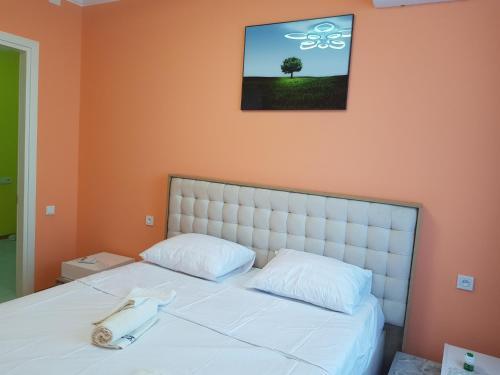 Кровать или кровати в номере 1stBatumi Gorizont