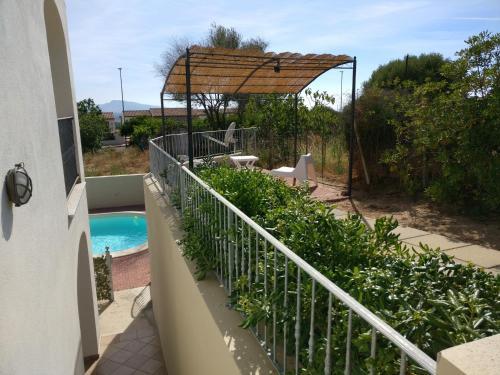 A balcony or terrace at GF Apartments La Vigna