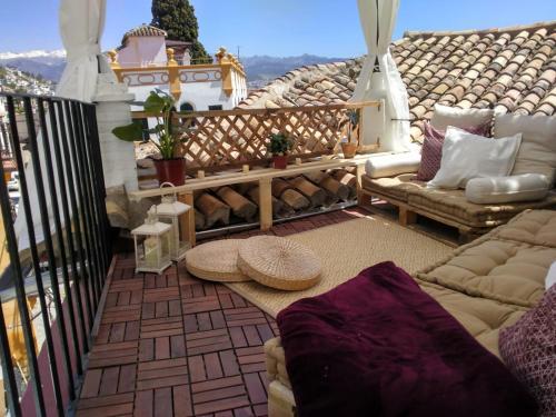 A balcony or terrace at BENDITA CASA