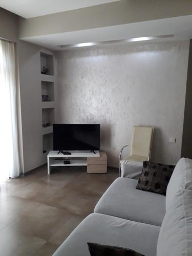A television and/or entertainment center at Apartment on Rustaveli
