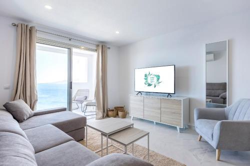 Zona de estar de Lujosos Apartamentos Mónaco
