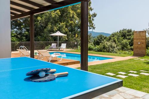 The swimming pool at or near Villa Lepti Ammos