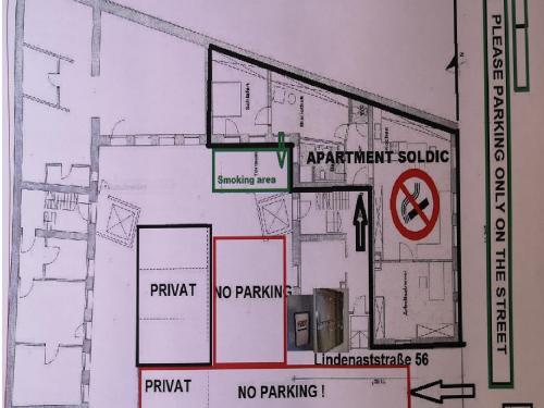 Grundriss der Unterkunft Ferien Wohnung Soldic