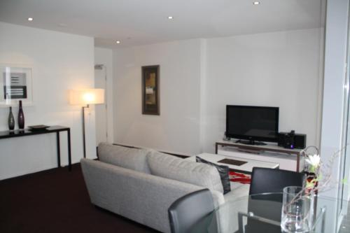 A television and/or entertainment center at Wyndel Apartments St Leonards - Pacific