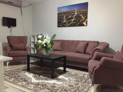 A seating area at Park Rezidans