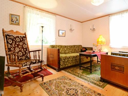 Lobbyn eller receptionsområdet på Two-Bedroom Holiday home in Vissefjärda 1